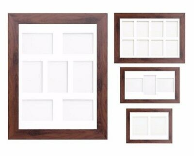 Dark Oak Multi Aperture Photo Picture Frame & Mount Choice Of 23 Mounts Design