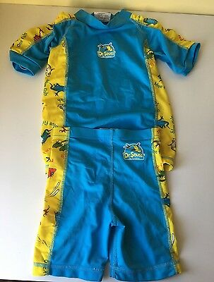 Dr. Suess by Bumkins 2 piece swimsuit rash guard 2-3 years One Fish Two Fish