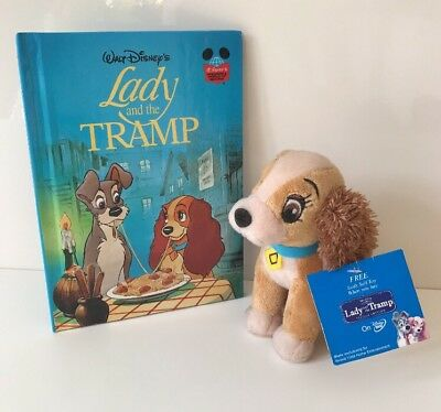 Disney Lady And The Tramp, Lady Plush Soft Toy And Book Bundle, With Tags
