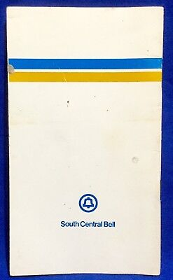 Vintage South Central Bell Personal Phone Book