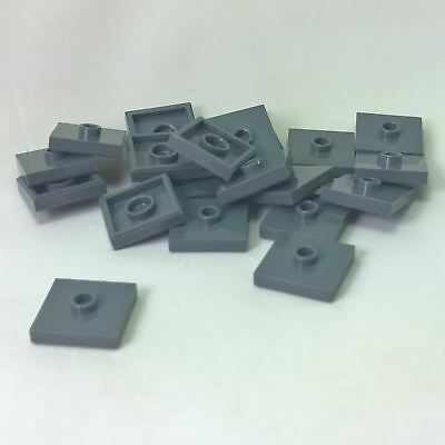 LEGO NEW Dark Tan Plate Modified 2x2 w// 1 Stud in Center Lot x8 Tile City 87580