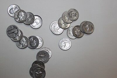 25 Silver Quarters 30's to 60's