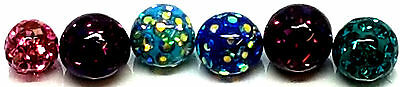 Choose Color - Very Good Glittered Acrylic Spare / Repalcement Ball/ Balls