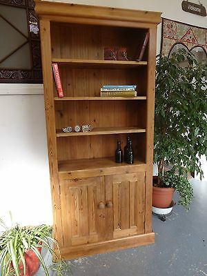 Lovely Large Wooden Dresser, Bookcase, Cupboard Nearly 2 Metres High