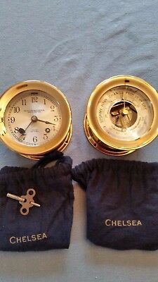 Chelsea Brass clock and barometer