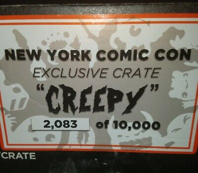 LOOT CRATE NYCC 2015 CREEPY Complete Crate New York Comic Con No. 2083 Opened.