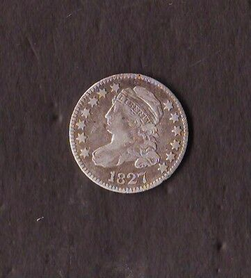 1827 Bust Dime Sharply Struck and Well Detailed VF..Light Scratches