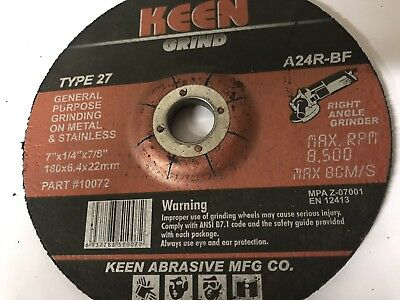 "1 Keen 7"" Dia General Purpose Grinding Wheel #10072"