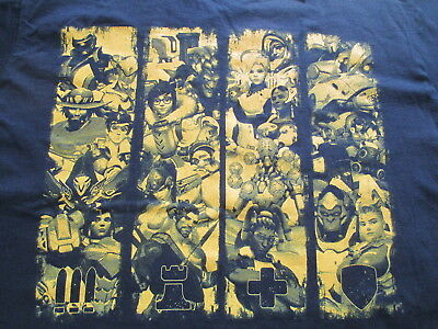 NWT Blizzard Overwatch Black Yellow T Shirt L Large XL X-Large