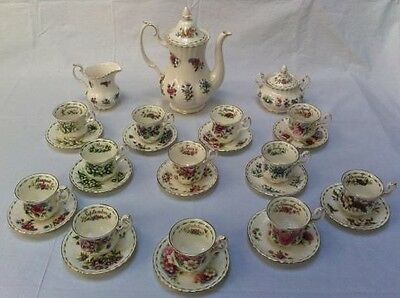 Royal Albert-Flower Of The Month Servizio Completo Caffe' - England