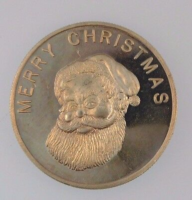 Merry Christmas And A Happy New Year 1 oz .999 Fine Silver Art Round (40)