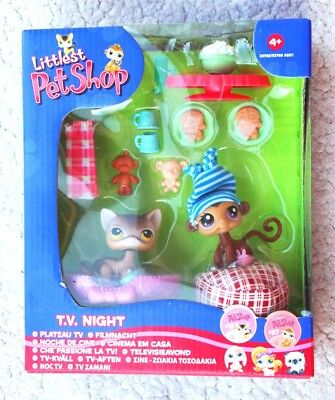 Rare & Retired Littlest Pet Shop: T.v. Night (Noche De Cine, 19 & 57). Bn Os