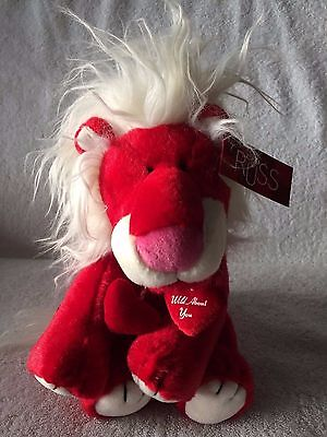 """""""WILD ABOUT YOU"""" Rex The Red Lion 11"""" Plush Made by Russ w/Tags Attached! NEW!"""
