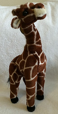 """Baby Giraffe 13"""" Plush Made by Applause & National Geographic w/Tags Attached!"""