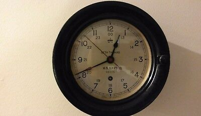 "Seth Thomas WW2 6 Inch U.S.Navy Deck Clock ""Circa 1943 """