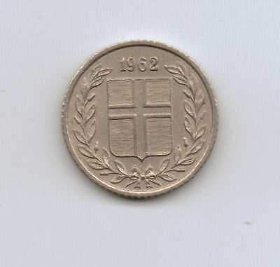 ICELAND - 10 Aurar 1962 Copper-nickel – 1.60 g – ø 15.00 mm