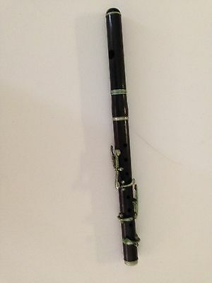 "Antique Piccolo  Flute 2 pieces ""Silver""/Wood  Made In Germany  1 of 2"
