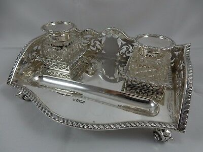 PRETTY, VICTORIAN silver INK STAND, 1898, 848gm