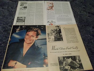 Glenn Ford  vintage   clipping #728