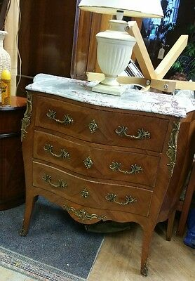 French vintage Louis xv Bombè canted ormolu mounted commode chest of drawers