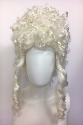 Victorian Halloween Female White Wig,Theatre, Edwardian Costume & Cosplay