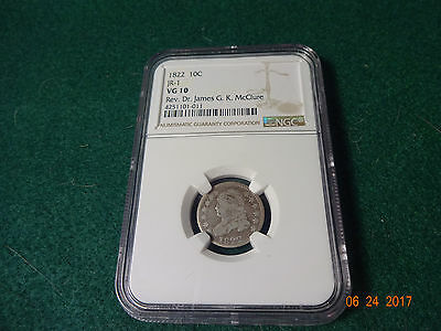 1822 Capped Bust Dime NGC VG10