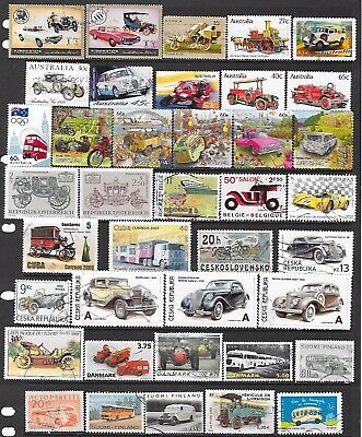 74 Stamps featuring various road transport that are used or CTO (2 scans)