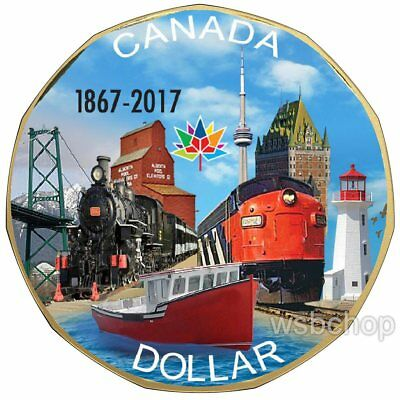 2017 CANADA 150 CONNECTING A NATION COLOURED LOONIE Fall sale