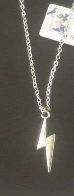 BOWIE Tribute Lightening Bolt Necklace....Sterling Silver.