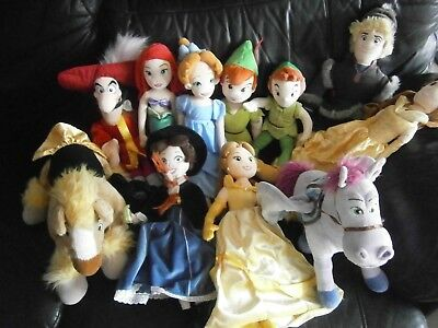 Disney Store Princess Soft toy Doll Bundle Wendy Peter Pan Horses & Many more