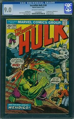 Incredible Hulk 180 CGC 9.0 - OW/W Pages