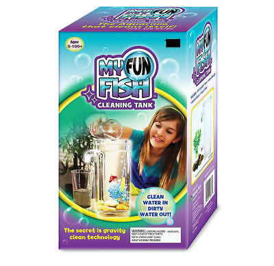 Self Cleaning Aquarium,My Fun FISH TANK Complete Kit+LED light and Gravity Clean