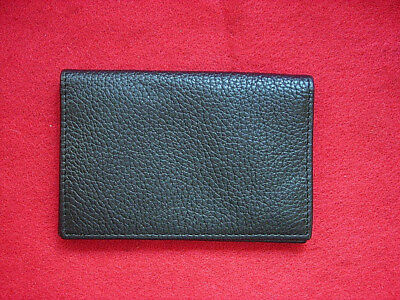 New Still In Wrapper Mark And Graham Black Leather Card Holder No Mono