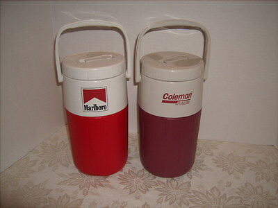 Two Coleman #5590 Water Jugs Nice Shape - Marlboro Jug