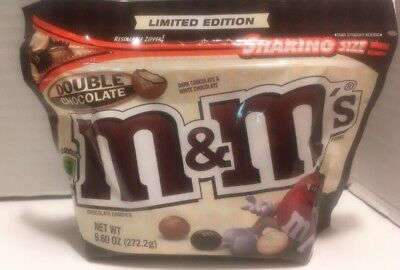 NEW M&M's Double Chocolate Limited Edition Candy Bag 9.60 OZ 262.2 g Resealable