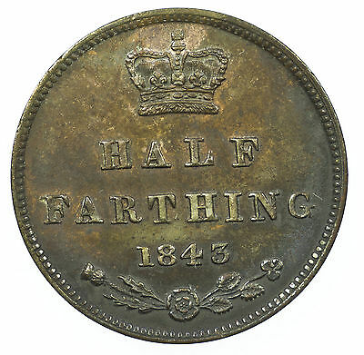 Great Britain, Victoria Half-Farthing, 1843