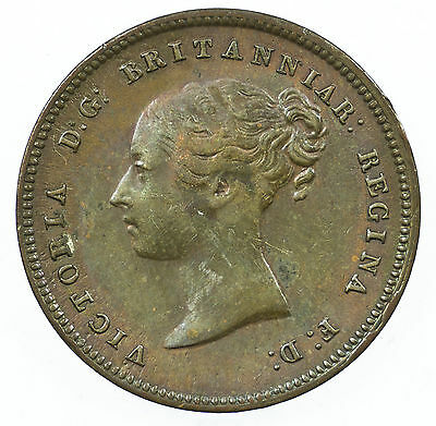 Great Britain, Victoria Half-Farthing, Traces Of Lustre, 1844