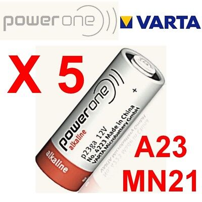 Lot de 5 piles MN21 POWER ONE by VARTA 12 Volts  LR23A GP23A V23GA A23 -BULK-