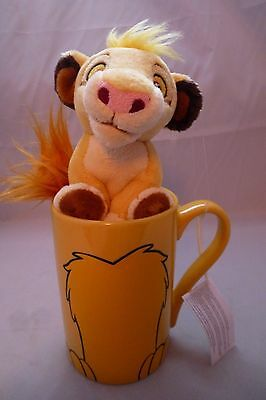 Disney Store - The Lion King - Original Simba Plush Toy & Large Mug Set - Rare