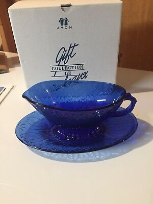 Avon Royal Sapphire Collection Gravy Dish