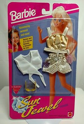 Vintage Mattel Barbie Clothes Sun Jewel Outfit- New In Package- Never Opened