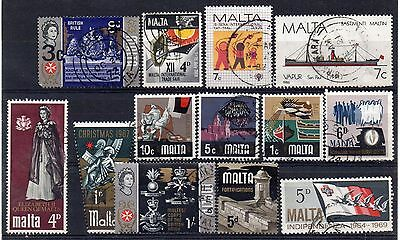 MALTA - Selection of Fine Used stamps.