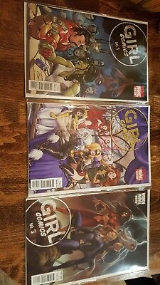 Marvel: Girl Comics (2010) Complete Set 1-3 VF/NM