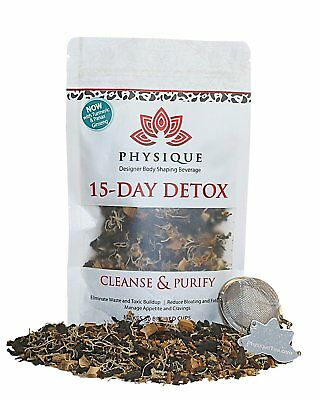 15 Day Teatox Detox Herbal Blend Tea Weight Loss & Body Cleanse Reduces Bloating