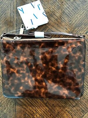 NWT Janie and Jack Purse Brown Tortoise Shell Color Coral Carousel Collection