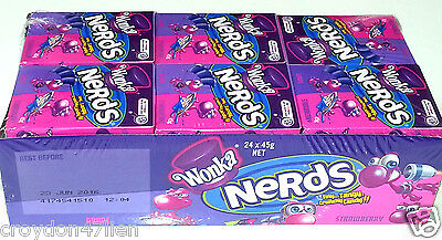 Wonka Nerds Grape / Strawberry 45g x 24 - Bulk Lollies