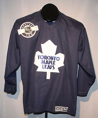 new style e08ad 067a1 CCM TORONTO MAPLE Leafs NHL Hockey Jersey Youth Size Large / XL Center Ice +