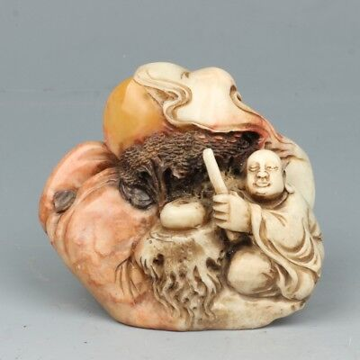 China Exquisite Hand-carved Enlightenment carving Shoushan Stone seal