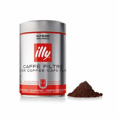 illy Coffee Ground  Filter Coffee 250g (box of 12)