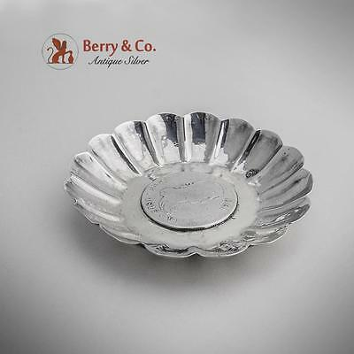 Ferdinand VII Coin Dish Sterling Silver 1900